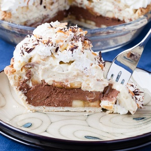 What if you could put a slice of chocolate coconut macadamia nut banana pie into a cocktail glass?